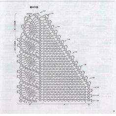 Crochet Thread Patterns, Crochet Stitches For Blankets, Crochet Shawls And Wraps, Crochet Scarf Tutorial, Chunky Crochet Scarf, Crochet Scarves, Diy Crafts Knitting, Diy Crafts Crochet, Crochet Shawl Diagram