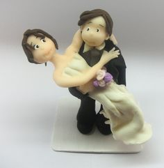 #Wedding Cake topper.   This is an example of a custom made Wedding Cake topper that I created, #Groom takes #bride on her lap. I can customize the dress and tux just for yo... #wedding #groom #marroriage #marriage