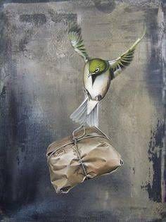 Jane Crisp painting-aid delivered to NZ Art Maori, New Zealand Art, Nz Art, Bild Tattoos, Kiwiana, Paper Birds, Watercolor Bird, Animal Paintings, Bird Art