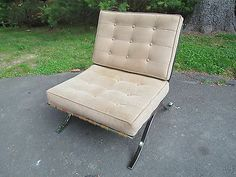 Stunning Mid Century Modern Barcelona Chair Made In Italy Excellent Knoll Style
