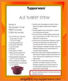 Ale (or beef/chicken stock) 'n' Beef Stew in Tupperware Microwave Pressure Cooker abigailjoy.my.tupperware.com Tupperware Pressure Cooker Recipes, Pressure Cooker Recipes Beef, Microwave Pressure Cooker, Tupperware Recipes, Microwave Recipes, Pressure Cooking, Cooking Recipes, Tupperware Consultant, College Cooking