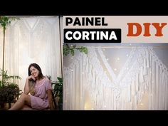 PAINEL DE MACRAME | CORTINA DE MACRAMÊ PASSO A PASSO - YouTube Macrame, It Works, Tapestry, Youtube, Diy, Dashboards, Craft, Hanging Tapestry, Tapestries