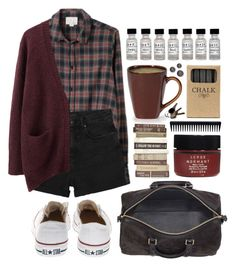"""Not dead yet"" by hanaglatison ❤ liked on Polyvore featuring Band of Outsiders, Monki, Acne Studios, Converse, Jayson Home, Serge Normant and GHD"