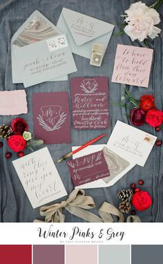 Unique Winter Wedding Color Palette
