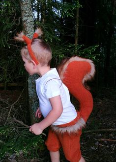 Red Squirrel boy costume/ Kids red squirrel Costume/red
