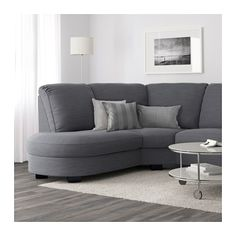 IKEA TIDAFORS corner sofa with arm right The high back gives good support for your neck. Corner Sofa Small Living Room, Corner Couch, Living Room Sofa, Living Room Decor, Small Corner, Sofa Layout, Angles, Curved Sofa, Living Room Ideas