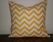 "Pillow Covers -18"" Zig Zag Chevron in Corn Yellow and White"