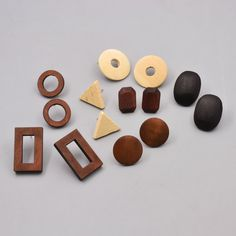 New fashion jewelry Valentine's Day wooden easy geometry stud gift for women girl E3061