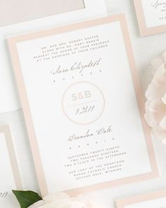 modern circle logo wedding invitations
