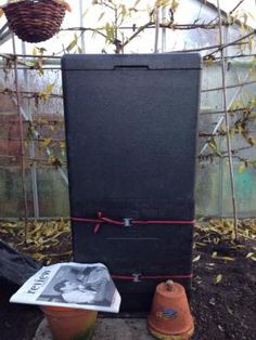 Hotbin – a highly insulated black composter that I had been experimenting with…