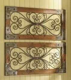 Rustic metal & wood screens for your walls