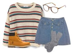 nerdy grunge by stinkhead on Polyvore featuring polyvore, fashion, style, MANGO, Barbour, Timberland, Charlotte Russe and clothing