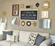 DIY thirt store finds gold gallery wall