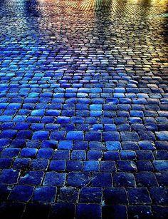 Rainbow cobblestones