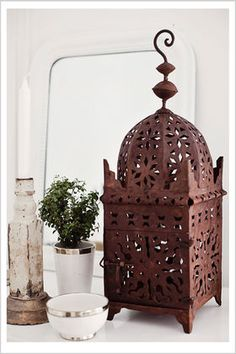 Moroccan lantern from Pure Love - just like the one we bought in Marrakesh!
