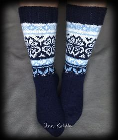 Sokker strikket i Viking Sportsragg