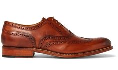 Lace Up Shoes, Dress Shoes, Grenson Shoes, Pocket Square, Brogues, Sportswear Brand, Tan Leather, Shopping Bag, Calves