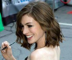 Anne Hathaway short hair curls