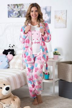 Cute Pajama Sets, Cute Pajamas, Cute Sleepwear, Girls Sleepwear, Winter Fashion Outfits, Night Outfits, Cute Summer Outfits, Cute Outfits, Pijamas Women