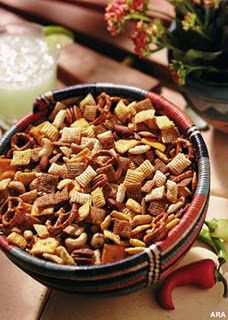 sweet & spicy chex mix