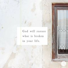"""""""And the God of all grace, who called you to his eternal glory in Christ, after you have suffered a little while, will himself restore you and make you strong, firm and steadfast."""" 