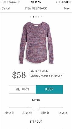 Emily Rose Sophey Marled Pullover. Love the color and style!