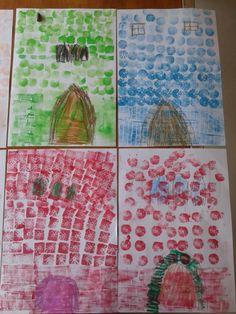 taller estampación para niños. Verano 2015. Facebook: lanatalan