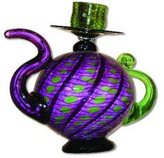 """Elegant Teapot"" / Blown glass sculpture"