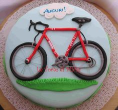 Learning to ride a bike is no big deal. Learning the best ways to keep your bike from breaking down can be just as simple. Bicycle Party, Bicycle Cake, Bike Cakes, Cakes For Men, Just Cakes, Fondant Cakes, Cupcake Cakes, Mountain Bike Cake, Dad Cake