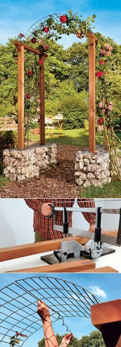 Садовые Арки + мастер класс по изготовлению Шпалеры Для Цветов