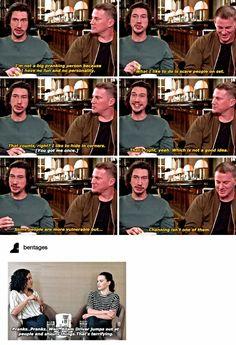 Adam Driver, Channing Tatum(, and Daisy Ridley)