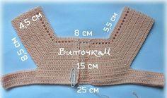 Vestido para Niña con Canesú tejido al Crochet / Moldes y paso a paso   Crochet y Dos agujas