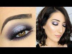 Purple Halo Smokey Eye Makeup Tutorial - YouTube #Eyemakeup #EyeMakeupGlitter Black Eye Makeup, Smokey Eye Makeup Look, Smokey Eye Makeup Tutorial, Hooded Eye Makeup, Eye Makeup Art, Eye Makeup Tips, Makeup For Brown Eyes, Makeup Ideas, Purple Makeup