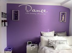 Great placement of the white lettering from our Dance wall graphic.  Designed by Cool Art Design.  Installed by customer.