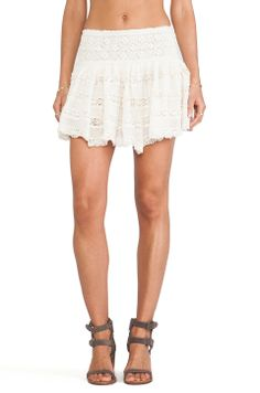 Jens Pirate Booty Clover Mini Skirt in Natural $165
