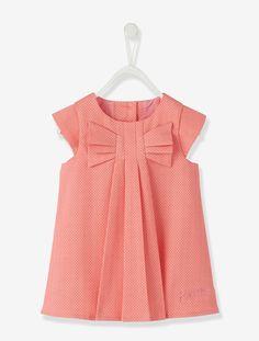 Vestido de manga corta bebé niña naranja rosado - Vertbaudet