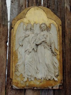 Antique French or Italian Angel Relief.