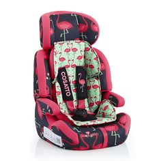 Cosatto Zoomi 123 Car Seat in Flamingo Fling Kiddicare.com