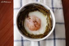 Huevo en cocotte con espárragos trigueros
