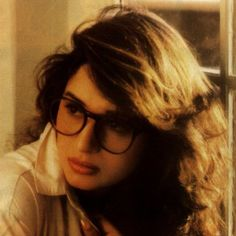 Rare pic of Madhuri Dixit with hipster glasses. She was Bollywood dancing BEFORE it was cool.
