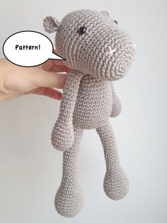 Hippo Amigurumi Pattern,,,, 31,00 kr