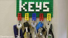 panneau porte-clés legos
