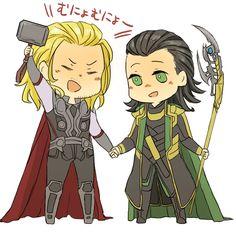 Chibi Thor & Loki