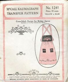 McCall-Kaumagraph-Transfer-Pattern-No-1241-Cross-Stitch-Design-for-Bridge-Apron