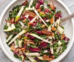 Salade met pancetta, kool en appel