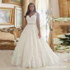 2020 New Lace V Neck A-Line Zipper Wedding Dress Bridal Gown Plus Size: – alldayas Wedding Dresses Under 100, Wedding Dress Sizes, Plus Size Wedding, Bridal Dresses, Wedding Gowns, Bridesmaid Dresses, Plus Size Gowns, Marie, Lace Dress