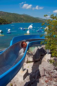 Cool down on Dragon's Splash, Labadee's salt water slide. Cruise Travel, Cruise Vacation, Cruise Port, Cruise Tips, Oasis Cruise, Best Places To Travel, Places To Go, Cool Water Slides, Caribbean Cruise Line