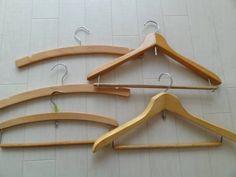 アンティーク木製ハンガー5本 Antique wood hanger ¥300yen 〆04月07日