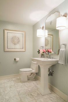 Casa Bella Interiors is a well-known design firm on Cape Cod. If you are a fan of coastal interiors, I think you'll really like this post. South Shore Decorating, Decorating On A Budget, Outside Toilet, Traditional Interior, Interior Design Studio, Guest Bath, Design Firms, Master Bathroom, Coastal