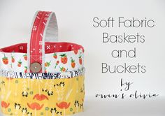 After months of winter, I am longing for spring.  With Easter around the corner, I am sharing with you soft fabric baskets you can make in one evening. Use these for a custom Easter basket, and use them the rest of the year to organize small items or crafts in your home. Baskets are approximately 5' high and 8' in diameter. Supplies to make one basket: (2) - 27' x 6' pieces of quilting cotton for the lining and exterior part of the bag. (1) 23' x 3 3/4' piece ...